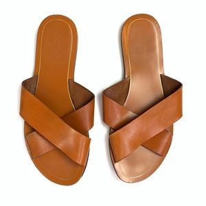 J.Crew Leather Sandals Brown
